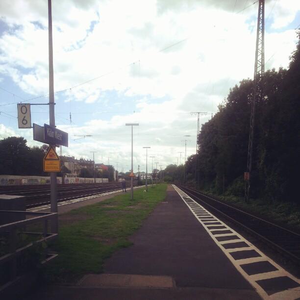 Taking the train.