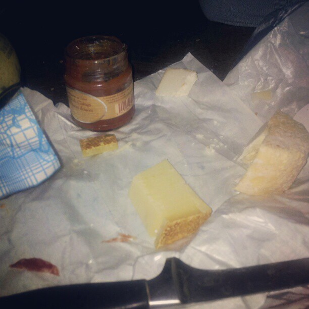 Quinces jam and cheese.