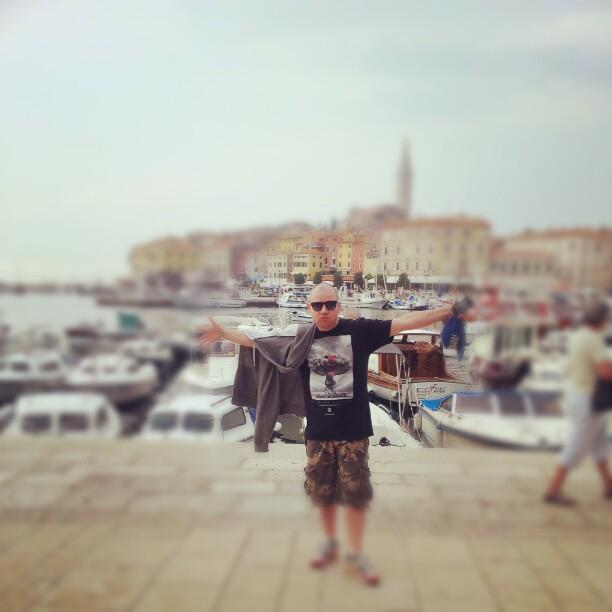 The terrarist at Rovinj's port.