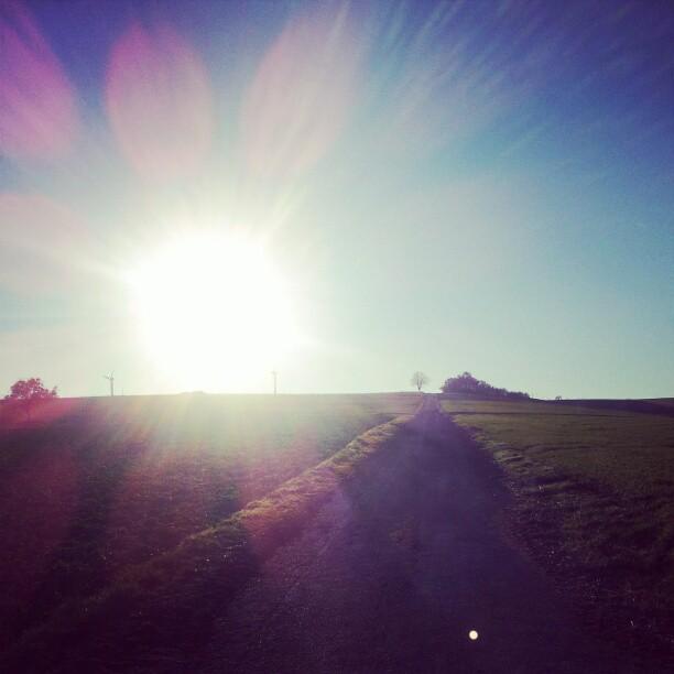 Sunshine 'pon the hill.