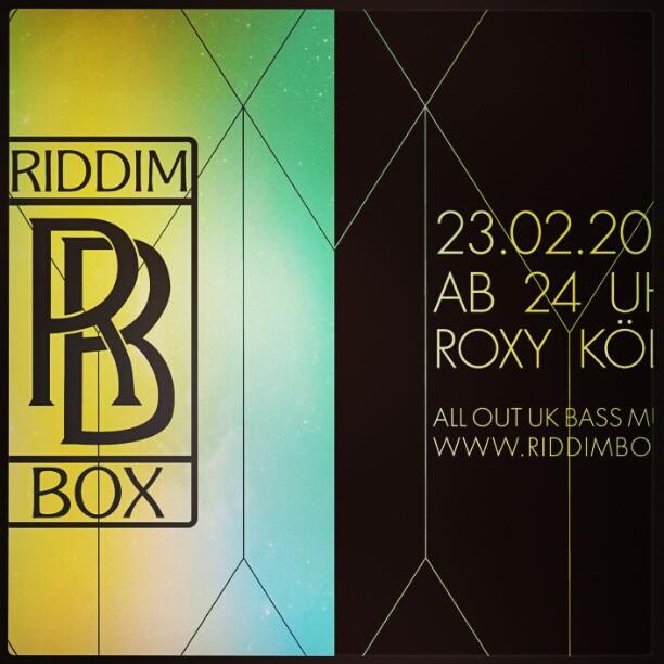 Samstag. #riddimbox im Roxy.  Köln.