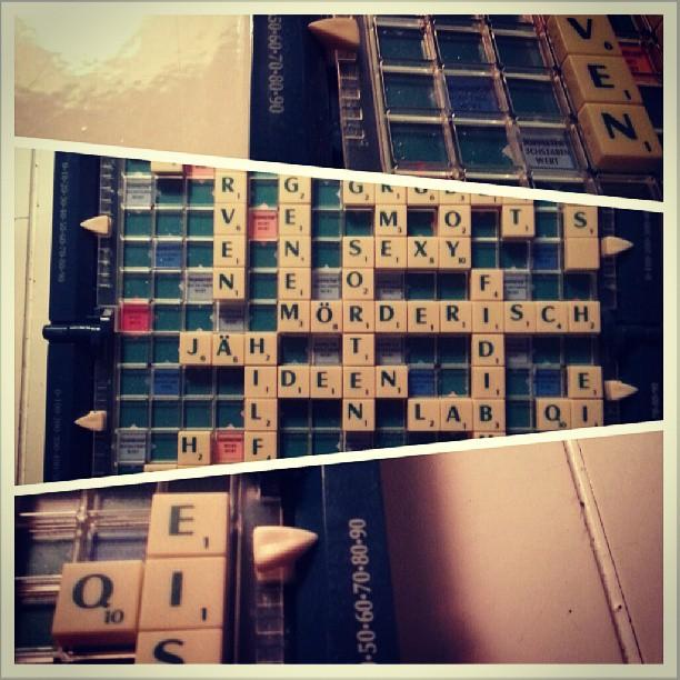 Scrabble monday.