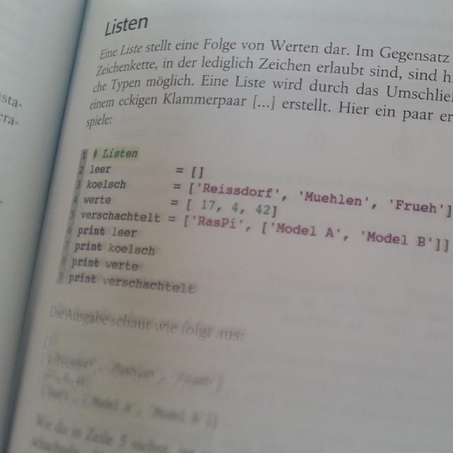 Python lernen mit Kölsch.