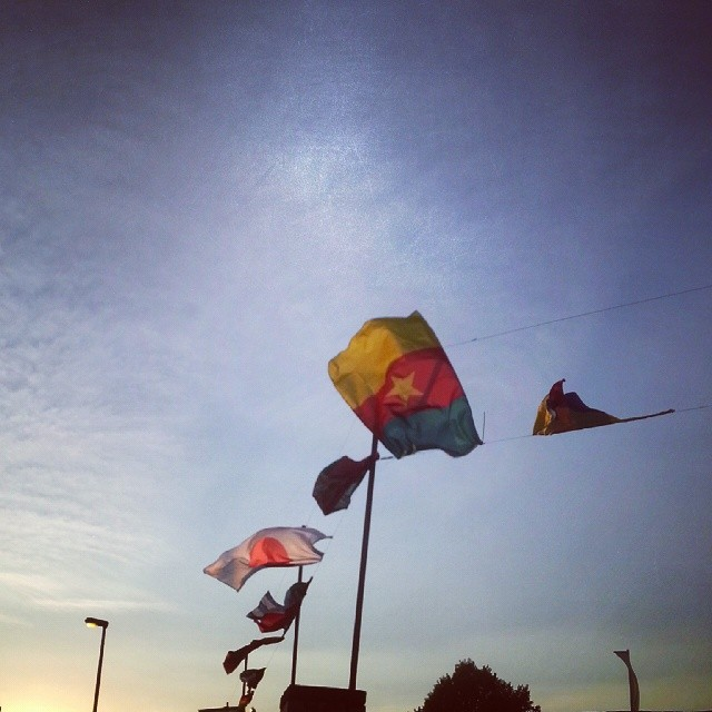 Flags. Wind.